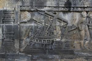 bas-relief of a ship