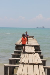 jetty of a fishing village in Pulau Madura