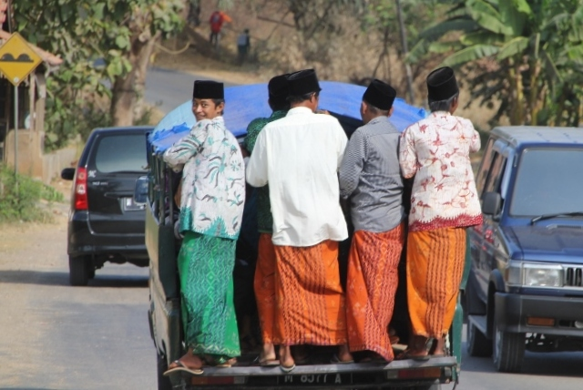 and more Madurese men, on the way to a party