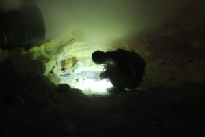 """one of the sulphur workers, at the """"mine"""""""