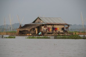 one of the houses in a floating village