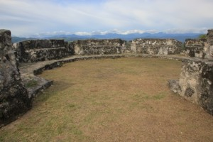 one of the remaining turrets of Benteng Otanaha
