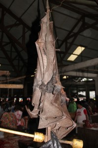 full-size bats in the Tomohon market