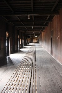 inside, the length of the longhouse is even more impressive