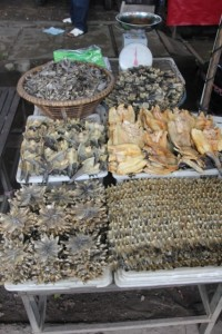 dried fish in the Martapura market