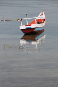 fishing boat in the old harbour