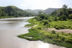 the Kambaniru river, just outside town