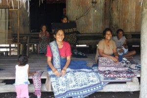 ikat, intricately woven, is an important cash generator