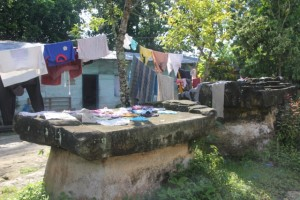 tombs are everywhere, and have multiple uses, amongst them drying the laundry