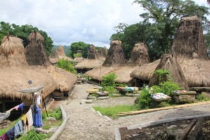 Kampung Tarung, well developed with concrete walkways and modern technology