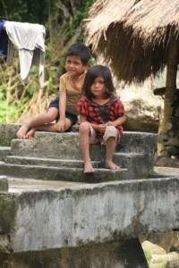 but in Kampung Gollu, the children have taken over the tombs
