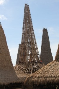 tallest roof in Sumba, once finished, in Ratenggaro