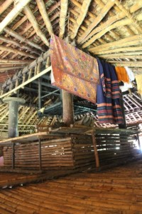 the structure of a traditional house, in Wainyapu