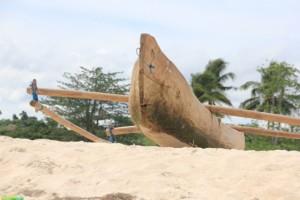 another canoe on the beach