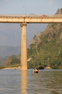 the bridge at Nong Kiauw, the only one across the Nam Ou