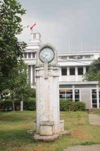 the old clock tower at the Kota railway station