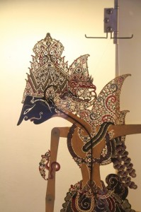 wayang puppet in the museum