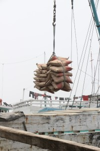 loading of cement bags