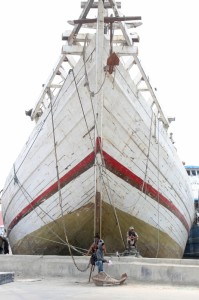 one of the schooners in Sunda Kelapa
