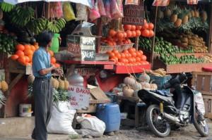 vegetable market in Lembang