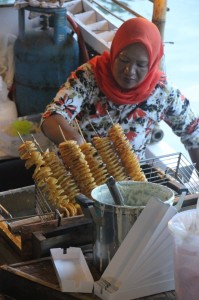 vendor in the floating market