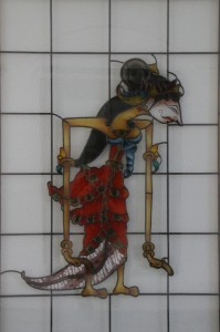 stained glass wayang decoration in the Sultan's palace in Yogyakarta