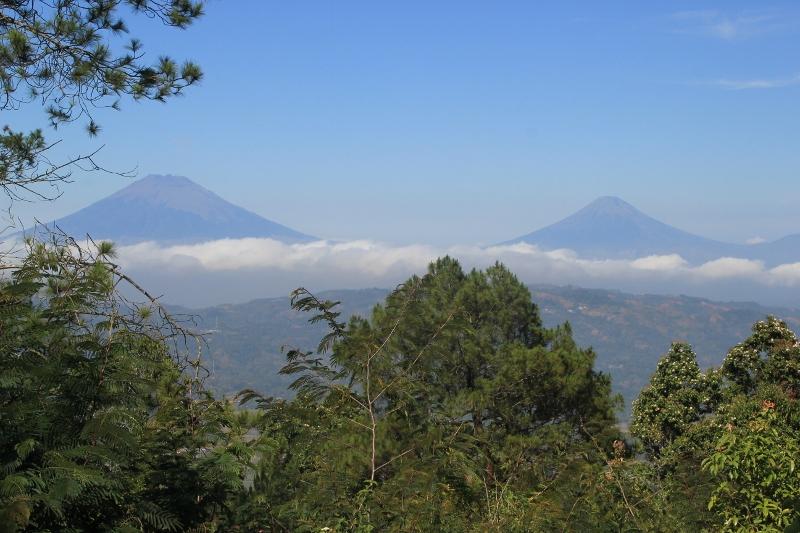 Gunung Sindoro and Gunung Sumbing