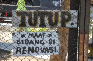 "tutup means ""closed"""