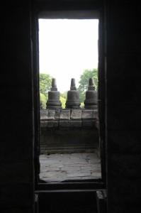 door of one the Prambanan temples