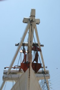 bow of one of the schooners in the old harbour of Surabaya