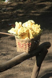 basket full of sulphur