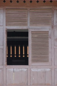 window in the wooden palace of the last sultan of Gowa