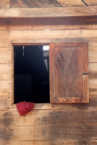wooden window