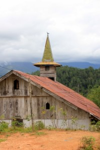 wooden church outside Mamasa town