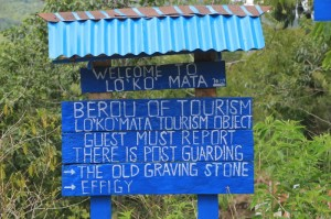 sign announcing the tourist bureau at Lokomata