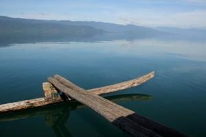 the peaceful lake on a Sunday morning