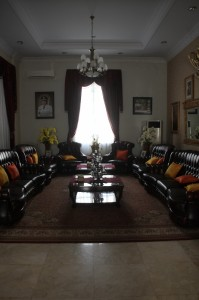 reception room inside the Governor's  Mansion