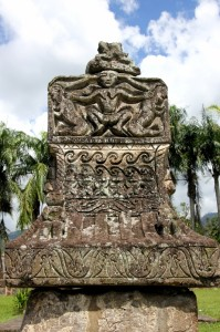 tomb cover in the Sawangan cemetery