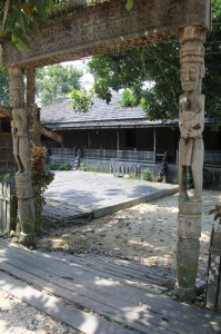 entrance to the longhouse