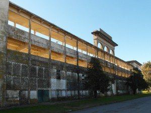 the fronton, a falling-apart stadium for a Basque ball-game