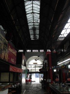 the iron market structure of the Mercado del Puerto