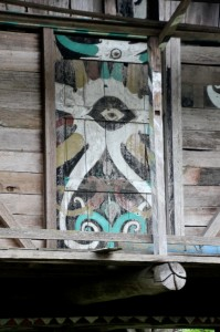 decorated door of the tomb