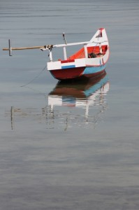 fishing canoe in the Waingapu harbour