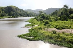 the Kambira river, upstream of the dam