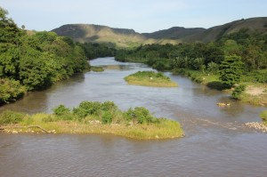 same river, view of the downstream part