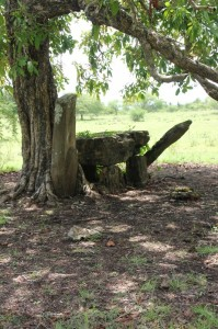 one of the Okawatu tombs outside the cemetery