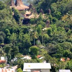 view of Kampung Tarung on the hill