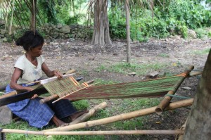 weaving – mostly ikats – happens in almost every village