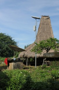 solar-fueled lamp posts and satellite dishes have penetrated the village