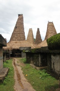 the tombs on the open space inside the clan circle